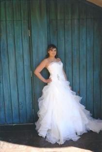 wedding photo - Fairytale Wedding Dress with Organza Ruffles Slimming and Flattering Style