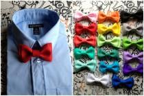 wedding photo - Red bow tie Baby boys Bow ties Groomsmen Bow tie wedding Ring Bearer Outfit First Birthday Cake Smash Baby Christmas Outfit Holiday Bow tie