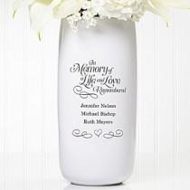 wedding photo - Personalized Wedding Vase