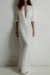 wedding photo - Sheer Shirt Long Dress