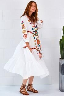 wedding photo - Embroidered Casual Dress