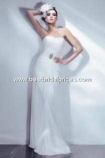 wedding photo - Bari Jay White Wedding Dresses - Style 2002 - Formal Day Dresses