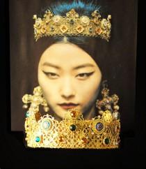 wedding photo - Baroque Dolce Crown and Earrings, headdress, Headpiece, Tiara, Romantic Renaissance Antique Medieval Queen Godess, Green