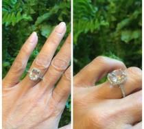 wedding photo - ON SALE Morganite Engagement Ring Cushion Cut 2.59ct Pink Morganite Ring Genuine Diamond Halo 14kt White Gold Wedding Pristine Custom Rings