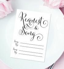 wedding photo - Request a Song Cards