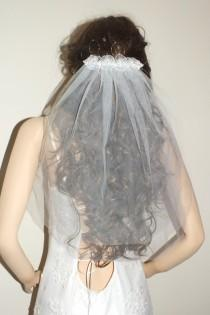 wedding photo - Bridal veil, traditional veil, tulle veil, summer veil, short veil, flower veil,First Communion Veil