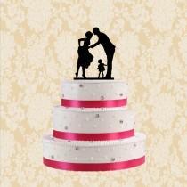 wedding photo - Silhouette wedding cake topper-bride and groom cake topper-cake topper wedding with girl-funny cake topper-modern silhouetter cake topper