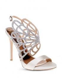 wedding photo - Badgley Mischka Newlyn Embellished Cage High Heel Sandals