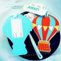 "wedding photo - Beter Gifts® ""Up, Up & Away"" Hot Air Balloon Luggage Tag  BETER-ZH040"