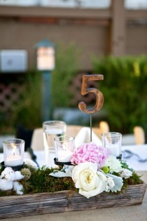 wedding photo - Vintage Rustic Wooden Table Number