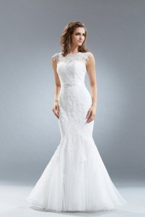 wedding photo - Full Lace Mermaid Wedding Dress 1