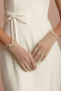 wedding photo - Sheer gloves