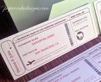 wedding photo - Travel Escort Seating Ticket / DIY Printable Interactive PDF / Airplane or Train Boarding Pass