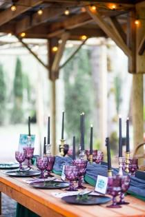 wedding photo - Jewel Tone Fall Garden Wedding Shoot - Weddingomania