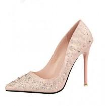 wedding photo - Wedding Pointed Toe Women Pumps High Heels Stiletto Heel Crystal Shoes Woman