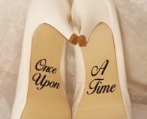 wedding photo - Once Upon A Time Wedding Shoe Decals, High Heel Decals, Shoe Decals for Wedding, Wedding Shoe Decals, Custom Shoe Decals, Disney Shoe Decals
