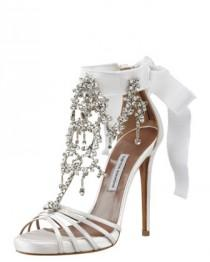 wedding photo - Chandelier Crystal Sandal