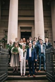 wedding photo - Relaxed and Simple Art Gallery Wedding with the Bride in a Suit