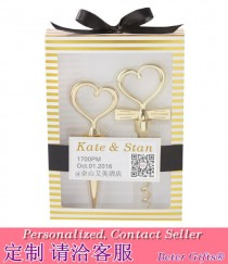 wedding photo - CHEERS TO A GREAT COMBINATION GOLD WINE SET Wedding Souvenirs BETER-WJ120
