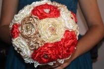 wedding photo - Bouquet of Peonies. Brooch bouquet, wedding bouquet peony, bridal bouquet, boutonniere, wedding bouquet with boutonniere, wedding set
