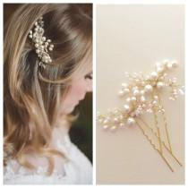 wedding photo - Mohini Bridal hair pin, Pearl Hair pin, Gold  or Silver