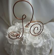 wedding photo - Rustic Wedding Decor, Cake Topper, Copper Letter Personalized