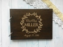 wedding photo - Personalised Wedding Guest Book Names Wooden Guestbook Alternative Guest Book Wood Guestbook Custom Engraved Guest Book
