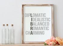 wedding photo - Libra, Libra Art, Zodiac Poster, Nursery Wall Art, Libra Print, Nursery Decor, Zodiac Sign Poster, Personality Crossword, Libra Traits