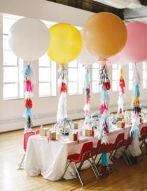 wedding photo - Balloons gone chic: giant balloon wedding decor for your reception