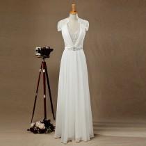 wedding photo - 2016 New Lace Chiffon Wedding dress, Lace Bridesmaid dress, Party dress, Formal dress, Prom Dress,Soft Tulle dress,Elegant Dress,Long dress