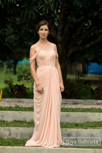 wedding photo - Gaia Dress for Bridesmaids and Formals in Blush