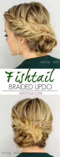 wedding photo - 21 All-New French Braid Updo Hairstyles