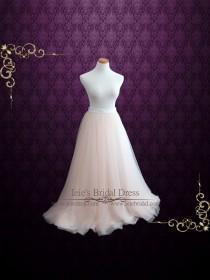 wedding photo - Blush Pink Soft Tulle Wedding Skirt