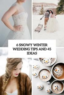 wedding photo - 6 Snowy Winter Wedding Tips And 45 Ideas - Weddingomania