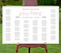 wedding photo - Seating Chart Template, Instant Download, Editable Text, DIY Printable Wedding Seating Chart, PDF Template, Digital Download