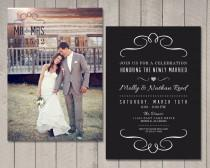 wedding photo - Modern Wedding Reception Invitation (Printable) by Vintage Sweet