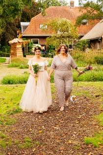 wedding photo - Sequin jumpsuits, tulle skirts, and naked cakes: a Netherlands orchard wedding of bliss