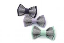 wedding photo - wedding bow ties set of 3 groomsmen bowties grey bow tie lilac bowtie lavender bow ties mint bow tie groomsmen bowtie gift boyfriend syyren