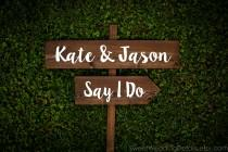 wedding photo - CUSTOM Wedding Signage - NAMES and another of your choosing - wedding sign, spring summer winter fall autumn chic outdoor wooden signage