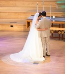 wedding photo - Bridal veil, Chapel veil, cathedral veil, floor length veil, waltz veil, simple veil, elegant veil, classic veil, plain veil, sheer veil