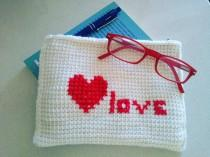 wedding photo - Borsello realizzato all'uncinetto tunisino -Tunisian crochet clutch -Tunisian crochet handbag  - Purse handmade - made i Italy