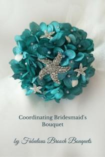 wedding photo - Beach Bouquet, Bridesmaid Bouquet, Brooch Bouquet, Destination Wedding Bouquet, Mini Bouquet