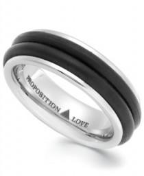 wedding photo - Cobalt And Rubber Accent Wedding Band