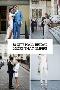 wedding photo - 38 City Hall Bridal Looks That Inspire - Weddingomania