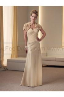 wedding photo - Sheath/Column Floor-length Sweetheart Satin Champagne Mother of the Bride Dress