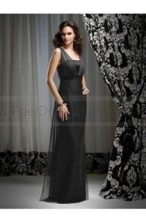 wedding photo - A-line V-neck Gray Belt Chiffon Sleeveless Floor-length Mother of the Bride Dress