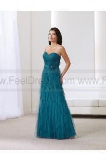 wedding photo - A-line Floor-length Sweetheart Tulle Green Mother of the Bride Dress