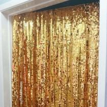 wedding photo - Gold Sequin Backdrop - Sequin Table Cloth by myTALEfeathers - bride, wedding, bachelorette party, bridal shower, sweetheart, photo booth