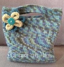 wedding photo - Dinamica borsetta con fiore, handbag crocheted, flower Tricotin, handbag, wool handbag, handmade, made in Italy