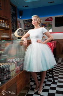 wedding photo - Tulle Wedding Dress By TiCCi Rockabilly